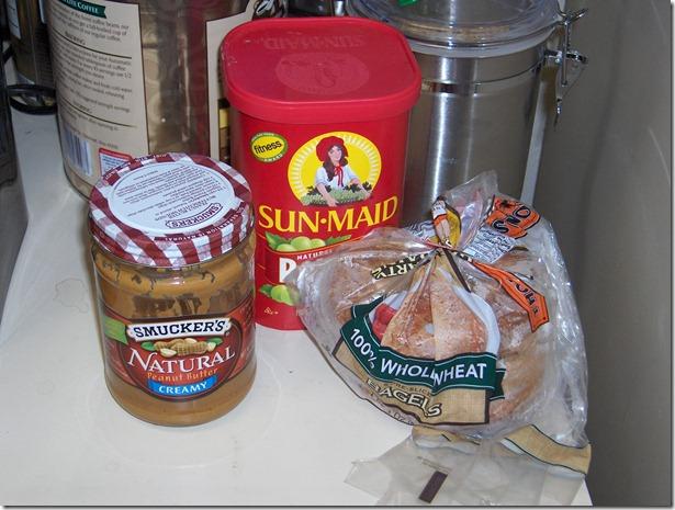 Bagel Raisin PB Breakfast