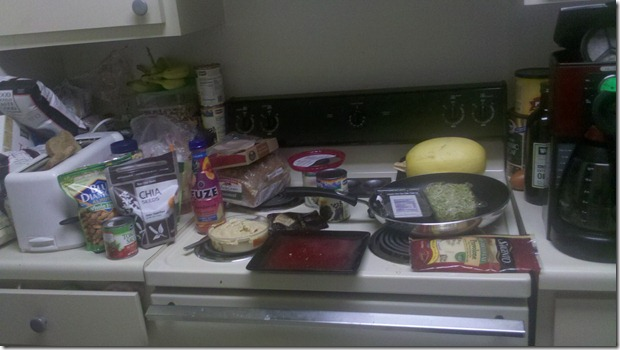 Kitchen Counter Mess