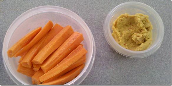carrots n hummus