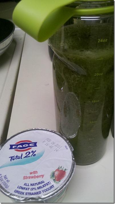 green monster and yogurt