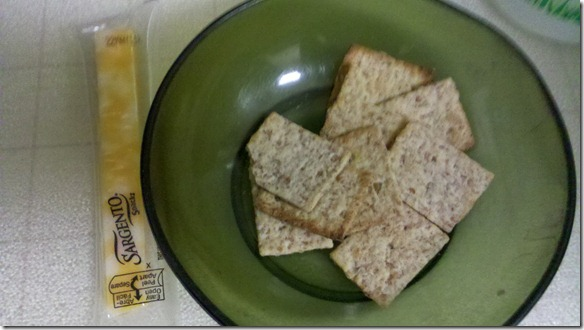 kashi crackers and cheese
