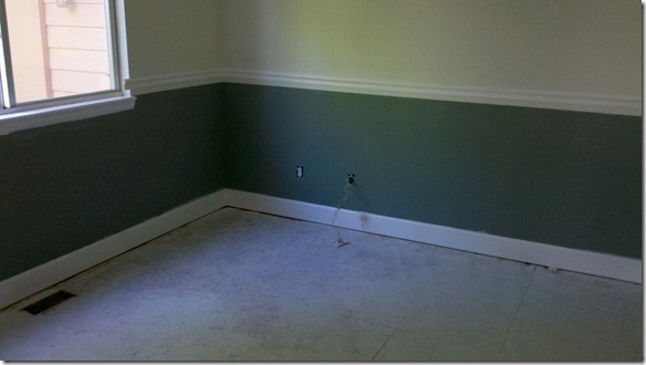 Office 07 -Primed flooring caulk done